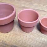 バターミルクペイントで植木鉢を塗ってみた